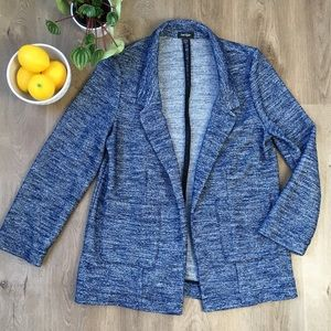 LORD & TAYLOR Heathered Blue Oversized Blazer L